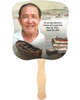 Fishing Cardstock Memorial Church Fans With Wooden Handle front photo