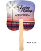 Glorify Cardstock Memorial Church Fans With Wooden Handle back