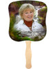 Graceful Cardstock Memorial Church Fans With Wooden Handle front photo