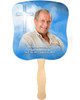 Heaven Cardstock Memorial Church Fans With Wooden Handle front photo