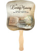History Cardstock Memorial Church Fans With Wooden Handle front