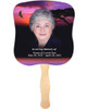 Imagine Cardstock Memorial Church Fans With Wooden Handle front photo