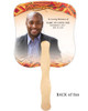 Impala Cardstock Memorial Church Fans With Wooden Handle back photo
