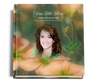 Floral funeral guest book with photo