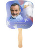 Patriotic Cardstock Memorial Church Fans With Wooden Handle front photo