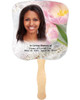Pearls Cardstock Memorial Church Fans With Wooden Handle front photo