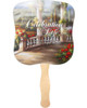 Tuscany Cardstock Memorial Church Fans With Wooden Handle front
