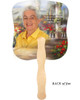 Tuscany Cardstock Memorial Church Fans With Wooden Handle photo back