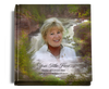 Graceful funeral guest book with photo