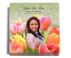 Harvest Graceful funeral guest book with photo