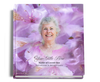 lavender funeral guest book with photo
