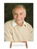 Your Photo In Loving Memory Memorial Portrait Poster on easel