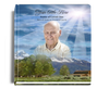 outdoor funeral guest book with photo
