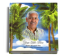 paradise funeral guest book with photo