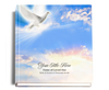 peace funeral guest book