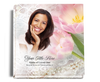 pearls funeral guest book with photo