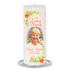 Lily Memorial Wax Pillar Candles