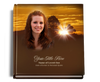 renewal funeral guest book with photo