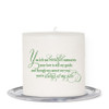 Rosette Small Wax Memorial In Loving Memory Candle back
