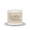 Sandstone Small Wax Memorial In Loving Memory Candle back