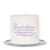 Tribute Small Wax Memorial In Loving Memory Candle back