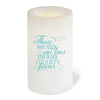 Dedication Flameless In Loving Memory Memorial LED Candle back