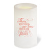 Victoria Flameless LED Personalized Memorial Candle back view