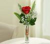In Loving Memory Glass Bud Vase