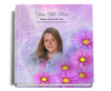 sparkle funeral guest book with photo