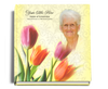 sunny funeral guest book with photo