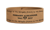 Always In My Thoughts Memorial Leatherette Bracelet