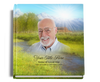 tranquil funeral guest book with photo