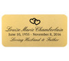 Personalized 1.5 x 3 Rounded Rectangle Memorial Urn Plate
