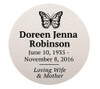 Personalized 2 Inch Circle Flexible Urn Plate
