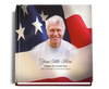 us flag funeral guest book with photo