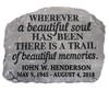 Personalized Beautiful Soul Memorial Garden Stepping Stone