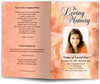 peach lavender funeral program template