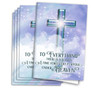 Adoration Cross Funeral Program Paper