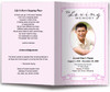 pink posy funeral program template