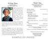 Bread of Life Funeral Program Paper