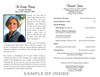 Enter Into Joy Memorial Funeral Program Paper