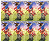 American Flag With Eagle Prayer Card Paper (set of 8)