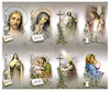 Catholic Mass Cards Tan Assorted Prayer Card Paper (Set of 8)