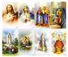 Cloud Backgrounds Catholic Assorted Mass Prayer Card Paper (Set of 8)