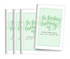 Brush Lettering Bifold Funeral Program Design & Print (Pack of 25)
