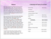 sparkle funeral program template inside view