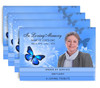 Butterfly 8-Sided Graduated Bottom Funeral Program Design & Print (Pack 25)