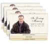 Stripes 8-Sided Graduated Bottom Funeral Program Design & Print (Pack 25)