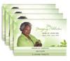 Twinkle 8-Sided Graduated Bottom Funeral Program Design & Print (Pack of 25)