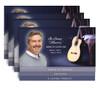 Guitar 8-Sided Graduated Bottom Funeral Program Design & Print (Pack of 25)
